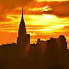 Chrysler Bldg Couds and Sunrise