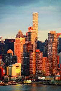NYC West Side Sundown Gold