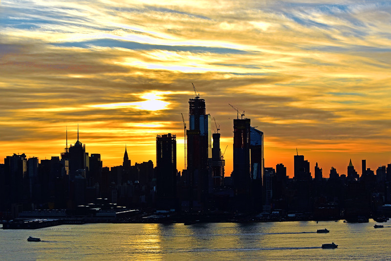 NYC Sunstreaked Golden Sky