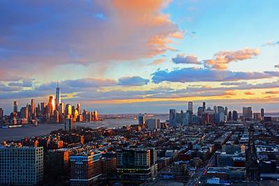 NJ-NJ Hudson River Sundown
