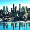 NYC Winter fReflections On Hudson River