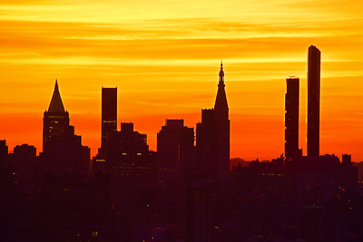 Sunrise Skies and Silhouettes NYC