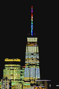 One World Trade Tower PRIDE colors