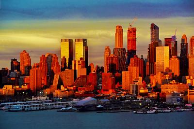 NYC Sundown Spotlight in Gold