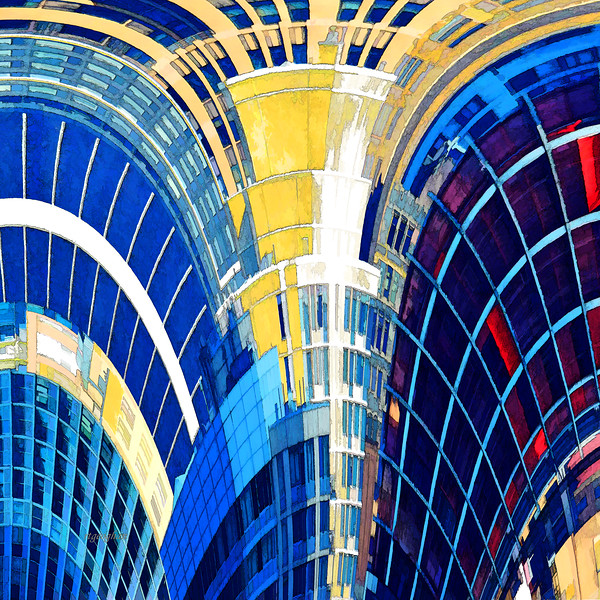 Architecture Abstract Art Squared #3
