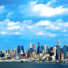 NYC Clouds and Blue Sky Landscape