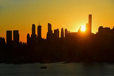 Rising Sun over NYC