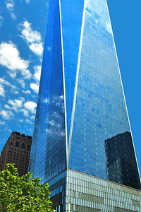 One World Trade in Deep Sky Blue