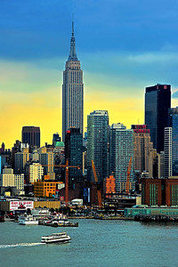 NYC Empire State Building Sundown