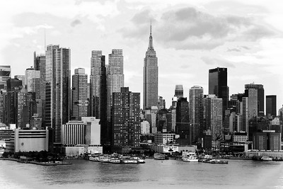 NYC Skyline Monorchomr Cityscape