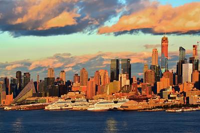NYC Sundown Cloud Ceiling