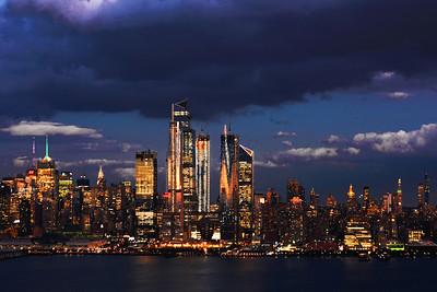 NYC Twilight Cloud Cover Drama