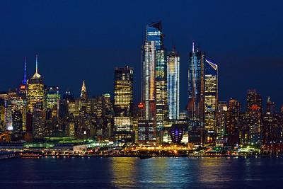 NYC- Twilight Blue and Night Lights