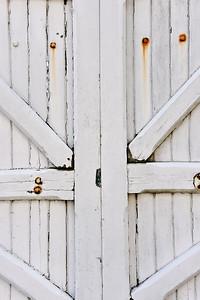 Weathered White Gate