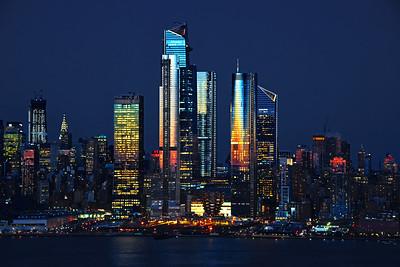 NYC Night Lights on BLue