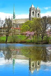 Sacred Heart Cathedral Lake Reflection