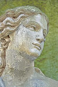 Sculpted Garden Maiden
