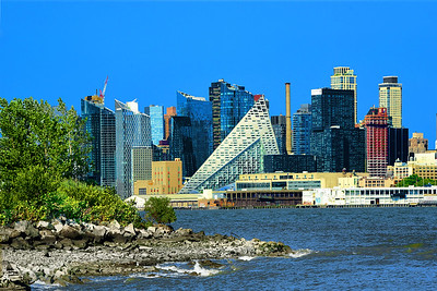 NYC viewed from New Jersey Waterfront