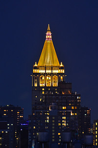 NYC Golden Rooftop in the Night