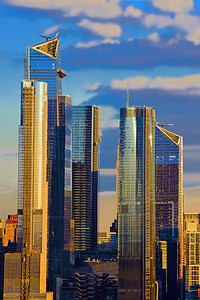 NYC Towers in a Sundown Sky