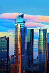 NYC Hudson Yards Sundown Magic