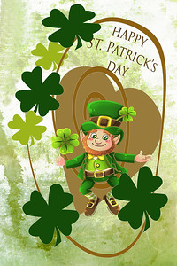 St Patrick's Day Leprechaun Greeting