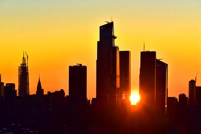 Manhattan Skyscrapers at Sunrise