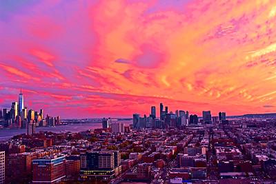 Sundown Red Skies over NJ and NY