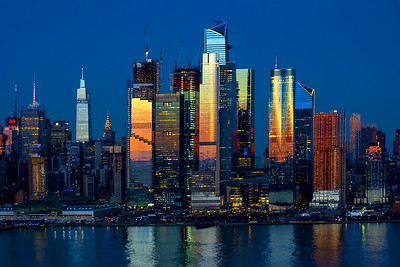 New York Skyline - Dusk Lights and Reflections