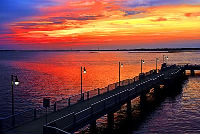 Bayside Fishing Pier at Sundown