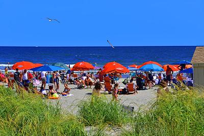Beach and Umbrellas Atlantic City NJ
