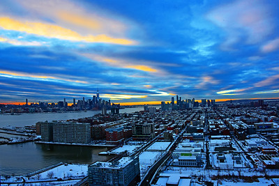 Sunrise After the Snow Along the Hudson River Goldcoast