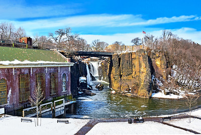 NJ Great Falls National Park on a Winter's Day