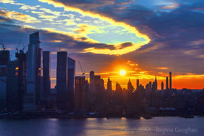 NYC Stormy Skies Sunrise