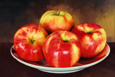 Four Apples in a Dish