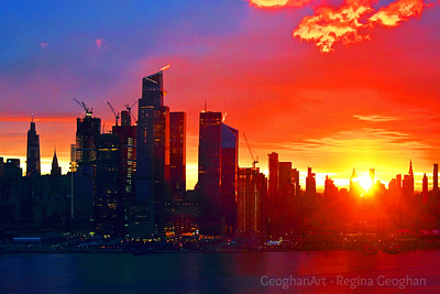 NYC Red Sunrise Finale