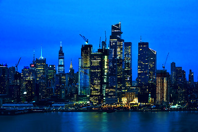 Manhattan Skyline in Twilight Blues