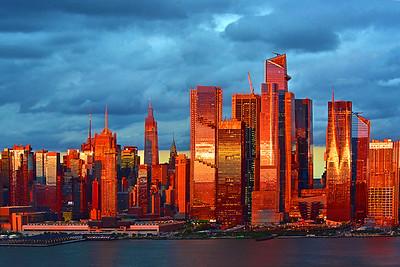 NY Skyline-Sienna Hued Sundown