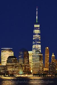 World Trade Center Night Lights NYC