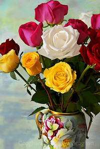 Rose Bouquet in Mixed Colors