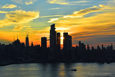 Manhattan Blue and Gold Sunrise