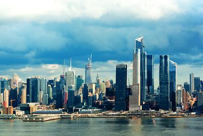 Manhattan Skyline Winter Blues