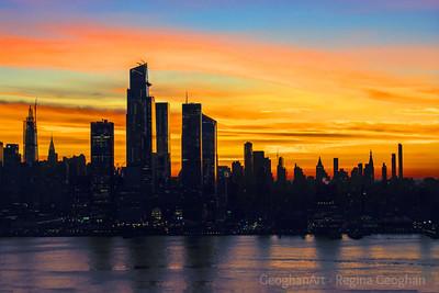 NYC on the Brink of Sunrise