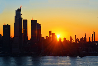 Sun's Up over New York City