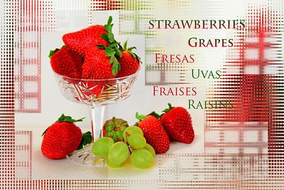 Strawberry-Grape Text Art