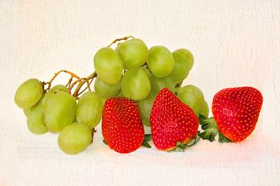 Strawberry and Grape Still Life