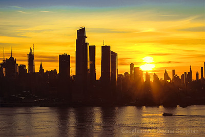 NYC Sunrise in Gold