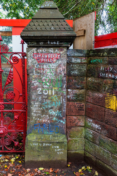 """The gate to Strawberry Field (""""Strawberry Fields Forever""""); Liverpool, England"""