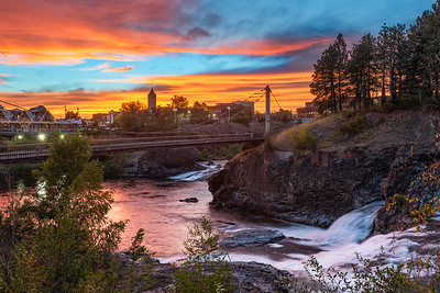 Spokane Falls Sunset Blues