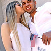 A very lucky Alejandro Gomez 25, gets a kiss from his finance Daniela Baron 22, after he received his US Citizenship. SUN/David H. Brow